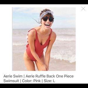 Aerie Swim Ruffle Back